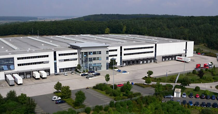 aerial view of the Expotechnik building